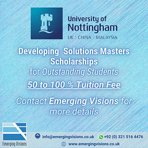 Developing Solutions Masters Scholarships